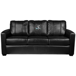 Silver Sofa with Ski Jump Logo Panel