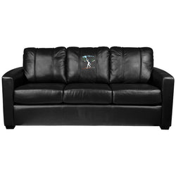 Silver Sofa with Ski Cross Country Logo Panel