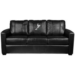 Silver Sofa with Speed Skater Logo Panel
