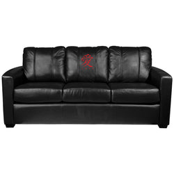Silver Sofa with Love Logo Panel