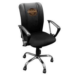 Curve Task Chair with World's Greatest Dad Logo Panel
