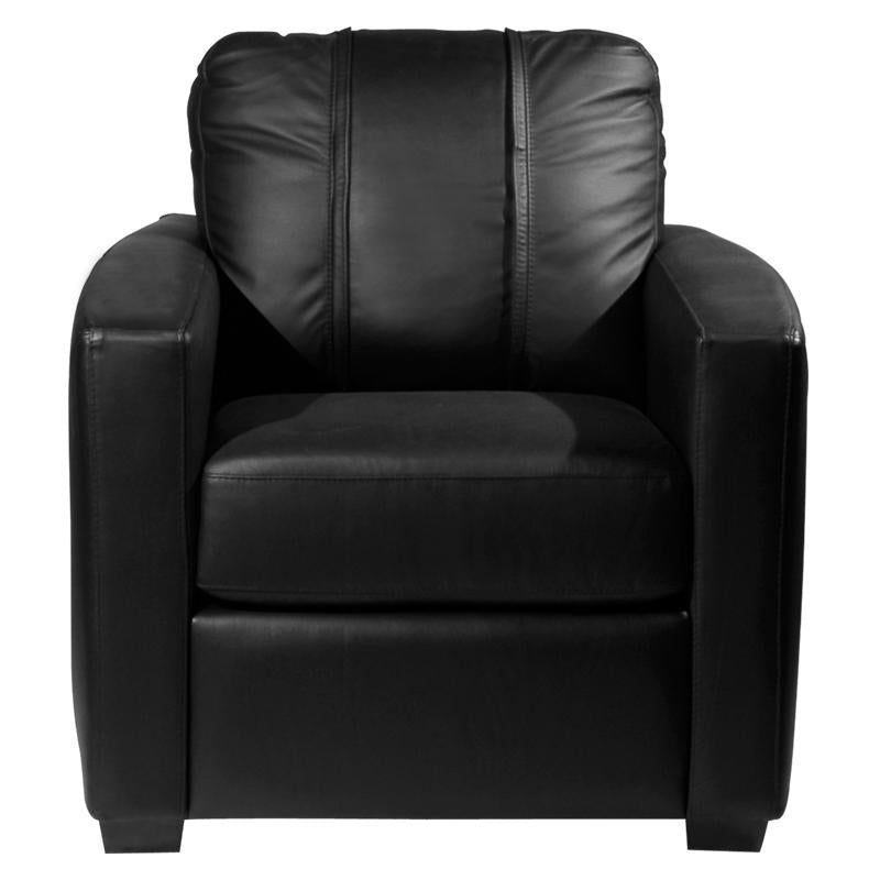 Silver Club Chair with  Las Vegas Raiders Helmet Logo