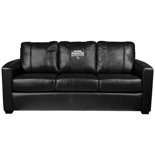 Silver Sofa with Central Florida UCF National Champions Logo Panel