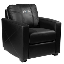 Silver Club Chair with San Antonio Spurs Logo
