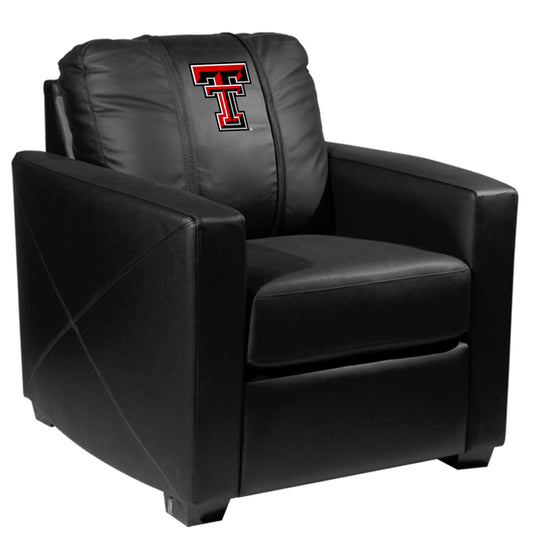Silver Club Chair with Texas Tech Red Raiders Logo