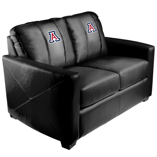 Silver Loveseat with Arizona Wildcats Logo
