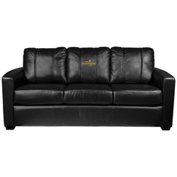 Silver Sofa with Golden State Warriors Champions Logo