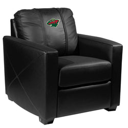 Silver Club Chair with Minnesota Wild Logo