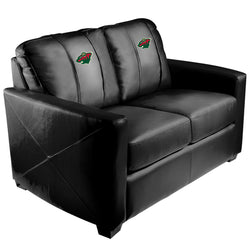 Silver Loveseat with Minnesota Wild Logo