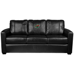 Silver Sofa with Minnesota Wild Logo