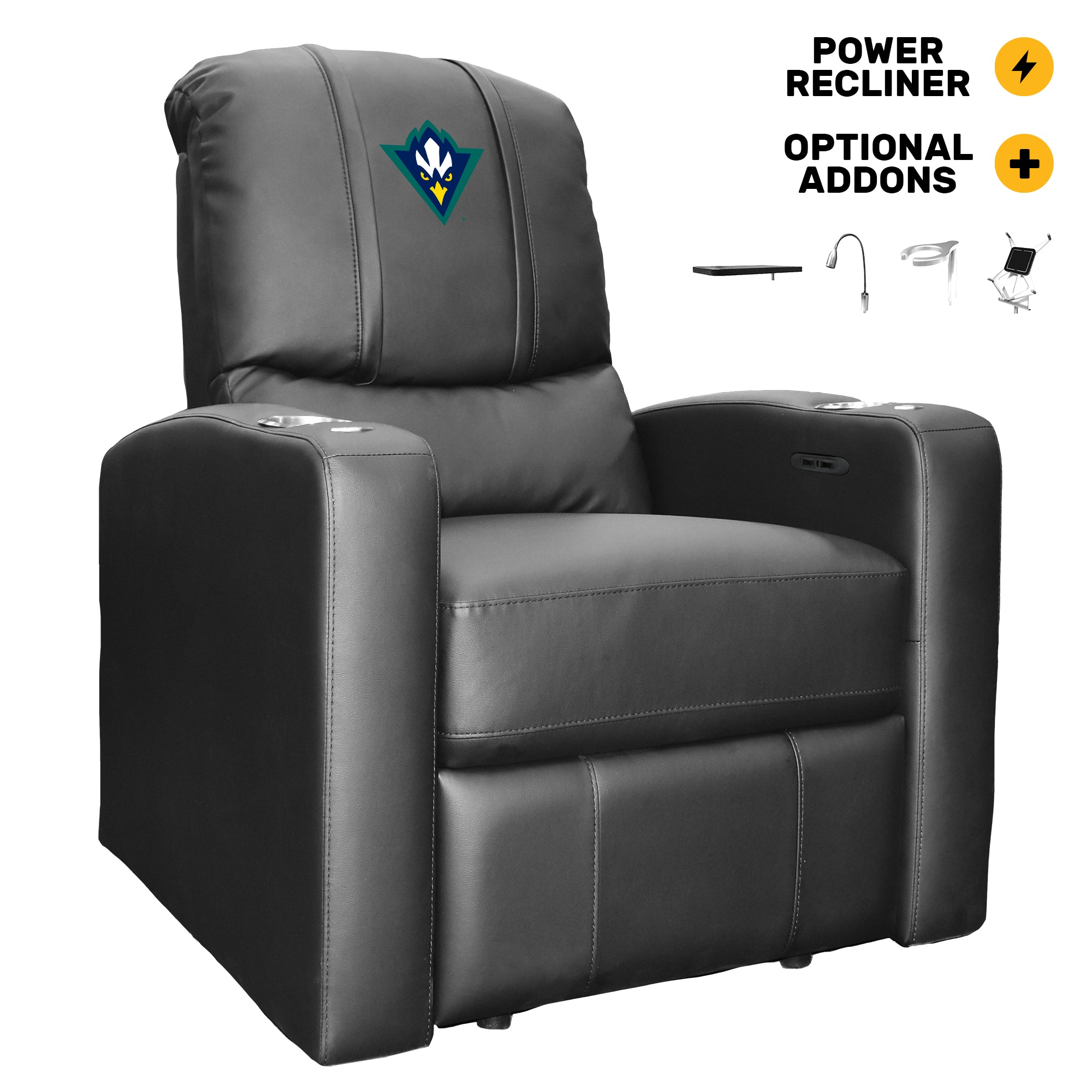 Stealth Power Recliner with UNC Wilmington Secondary Logo