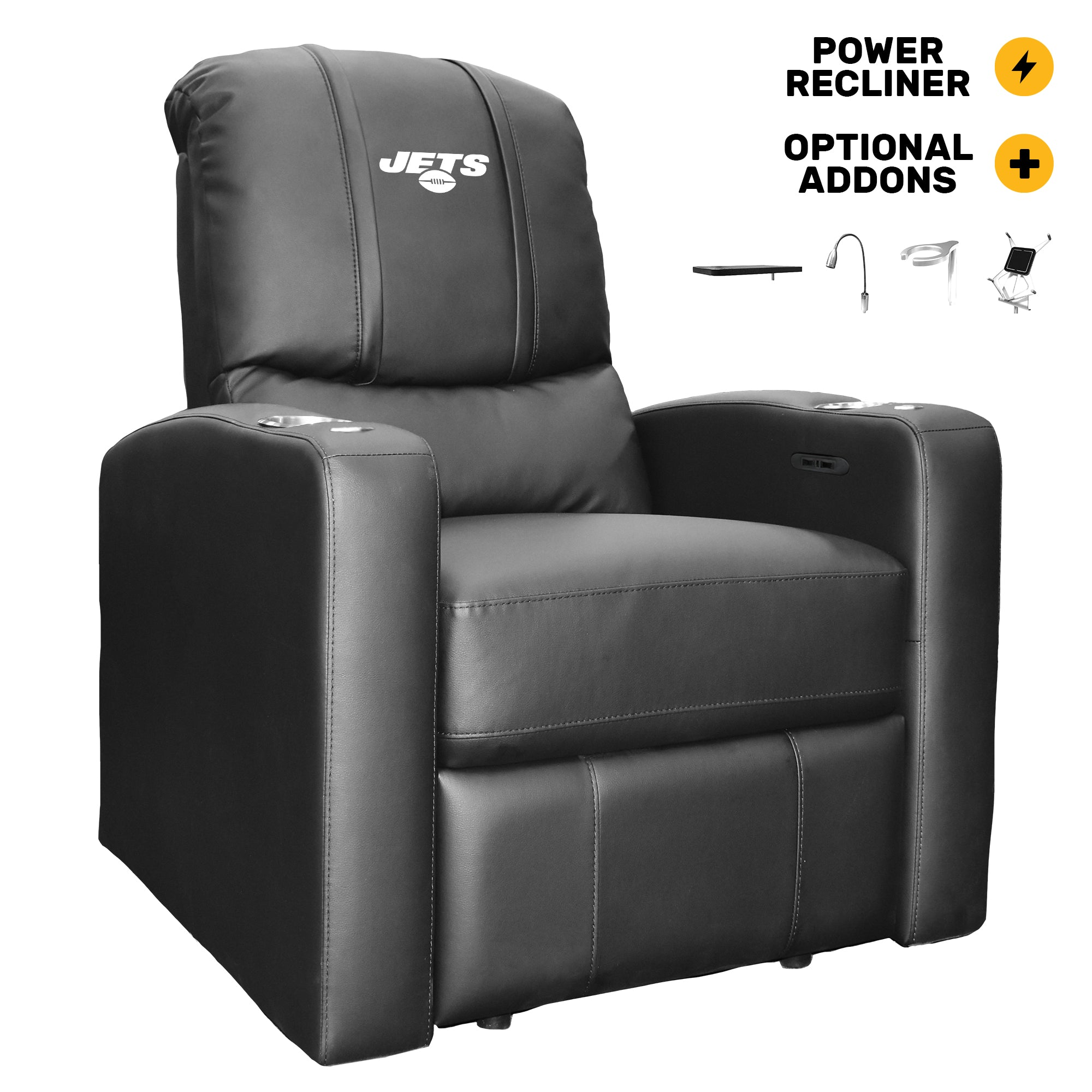 Stealth Power Plus Recliner with New York Jets Secondary Logo