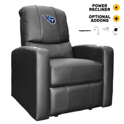 Stealth Power Plus Recliner with Tennessee Titans Primary Logo