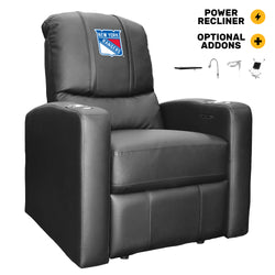 Stealth Power Plus Recliner with New York Rangers Logo