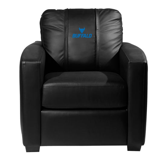 Silver Club Chair with Buffalo Bulls Logo Panel