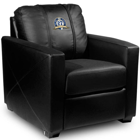Silver Club Chair with New York Yankees Logo