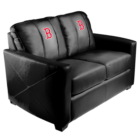 Silver Loveseat with Boston Red Sox Secondary