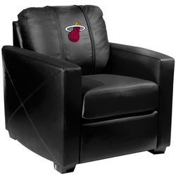 Silver Club Chair Miami Heat Logo