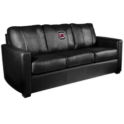 Silver Sofa with South Carolina Gamecocks Logo