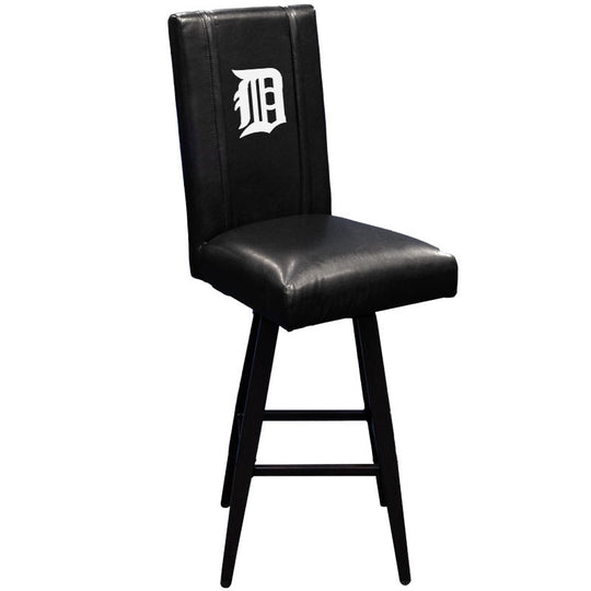 Swivel Bar Stool 2000 with Detroit Tigers White