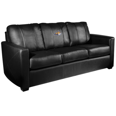 Silver Sofa with Montana State Bobcats Primary Logo