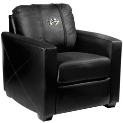 Silver Club Chair with Nashville Predators Logo