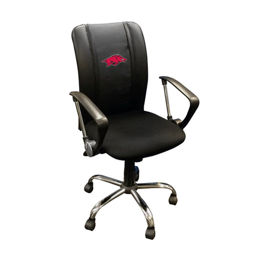 Curve Task Chair with Arkansas Razorbacks Logo