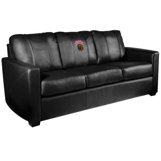 Silver Sofa with Montana Grizzlies Logo