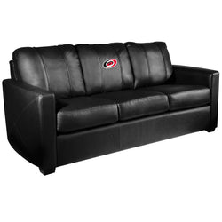 Silver Sofa with Carolina Hurricanes Logo