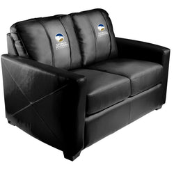 Silver Loveseat with Georgia Southern University Logo