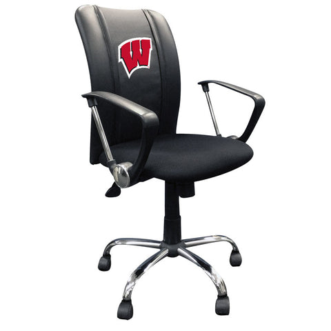 Curve Task Chair with Wisconsin Badgers Logo