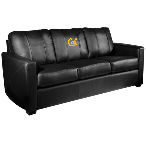 Silver Sofa with California Golden Bears Logo