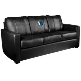 Silver Sofa with Dallas Mavericks