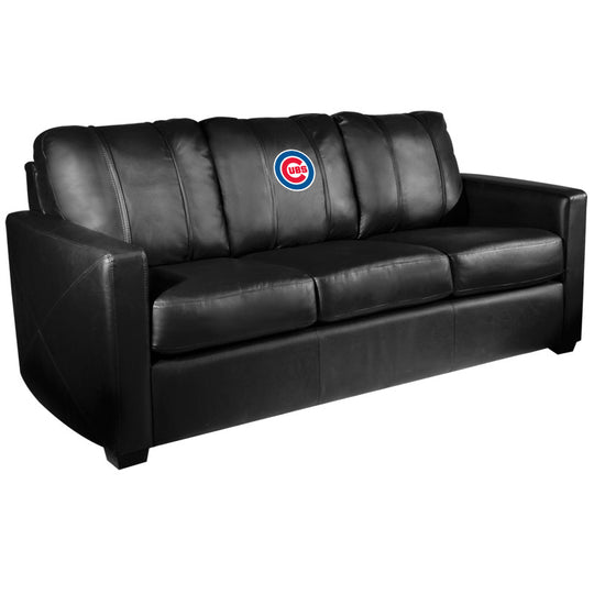 Silver Sofa with Chicago Cubs Logo