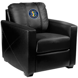 Silver Club Chair with Utah Jazz Secondary Logo