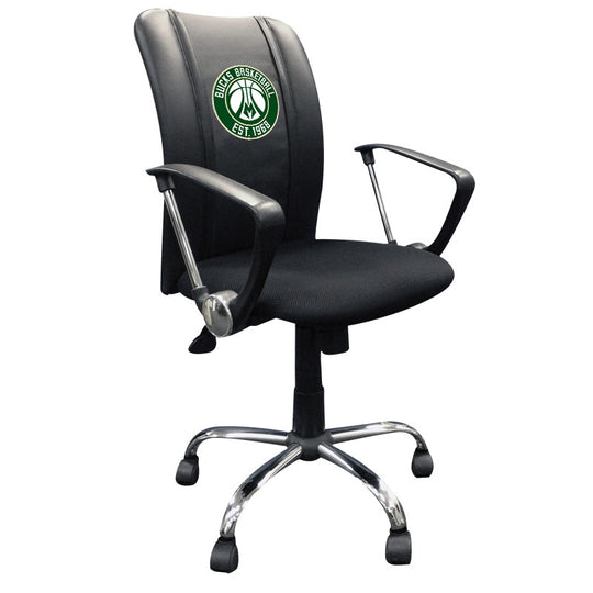 Curve Task Chair with Milwaukee Bucks Secondary Logo