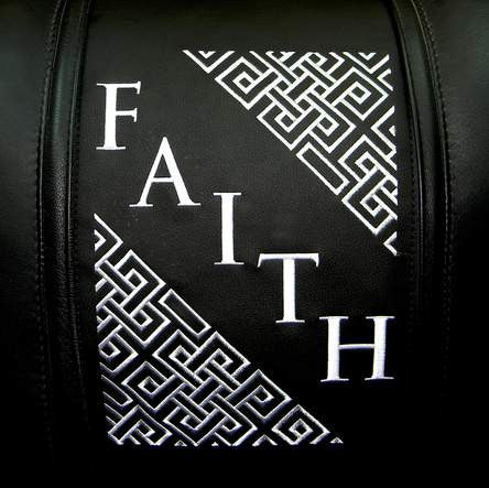 Faith Deco Diagonal Silver