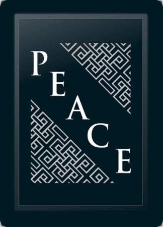 Peace Deco Diagonal Silver