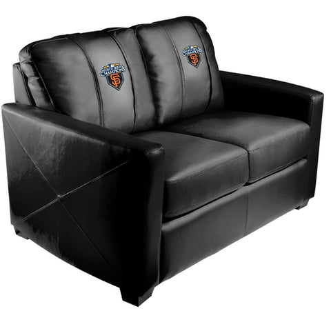 Silver Loveseat with San Francisco Giants Champs'10