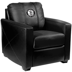 Silver Club Chair with Brooklyn Nets Secondary