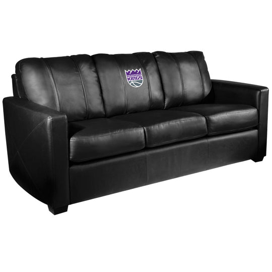 Silver Sofa with Sacramento Kings Primary Logo