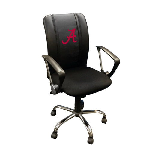 Curve Task Chair with Alabama Crimson Tide Red A Logo
