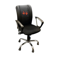 Curve Task Chair with Virginia Tech Hokies Feet Logo
