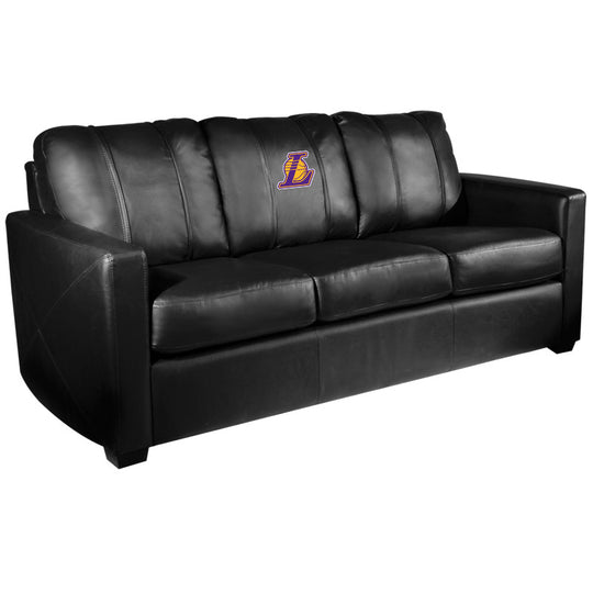 Silver Sofa with Los Angeles Lakers Secondary