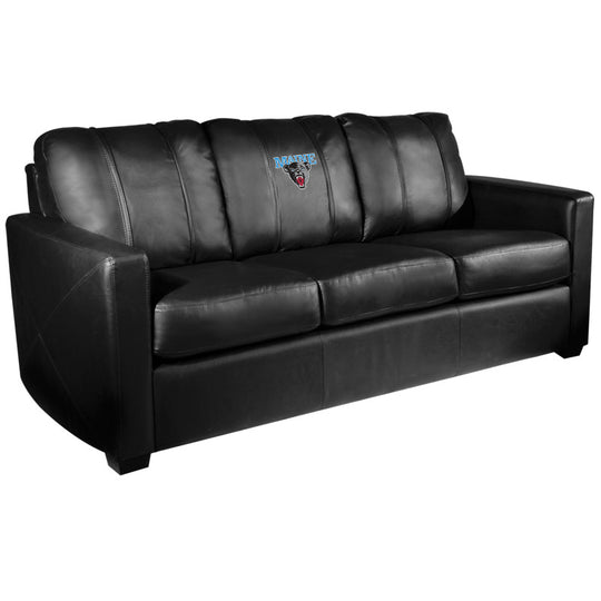 Silver Sofa with Maine Black Bears Logo