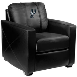 Silver Club Chair with San Antonio Spurs Primary Logo