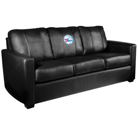 Silver Sofa with Philadelphia 76ers Primary