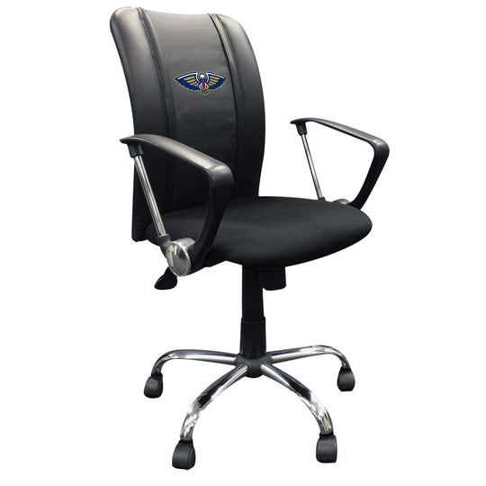Curve Task Chair with New Orleans Pelicans Primary Logo