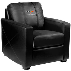 Silver Club Chair with Corvette C6 Logo