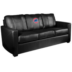 Silver Sofa with Chicago Cubs Secondary